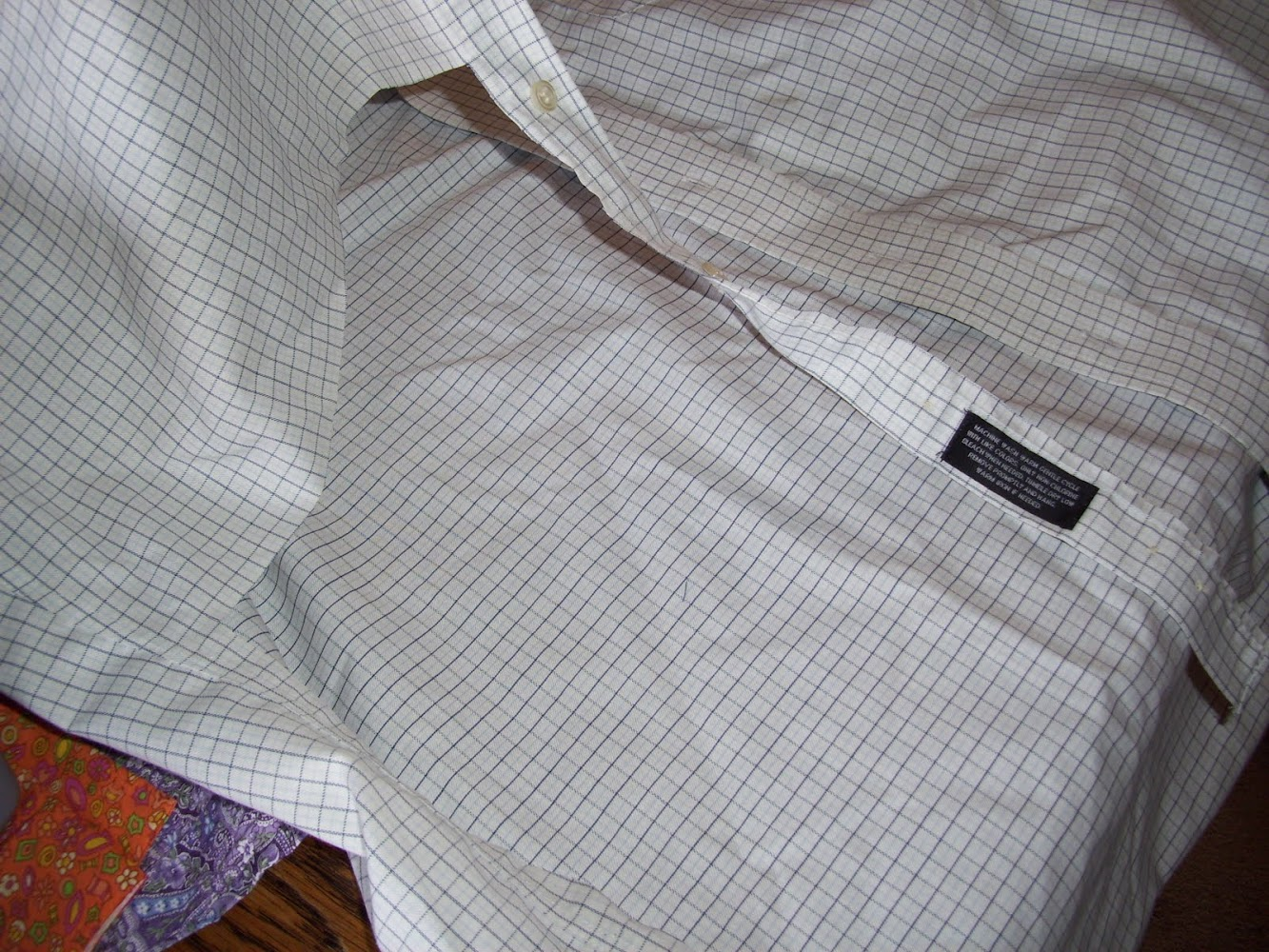 Making Cloth Napkins from an Old Shirt