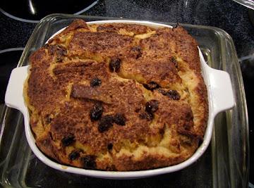 Raisin Custard Bread Pudding Recipe