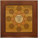 Penny Star Puzzle Framed Tile