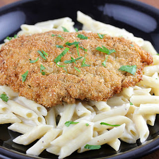 Crispy Chicken with Penne Pasta