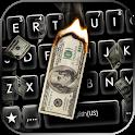 Burning Dollars Keyboard Background icon