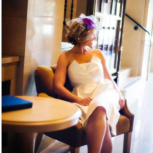 Modern Bride + Tea Length Wedding Gown