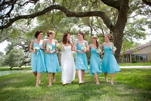 Summer Bridesmaid Dresses - Aqua Marine