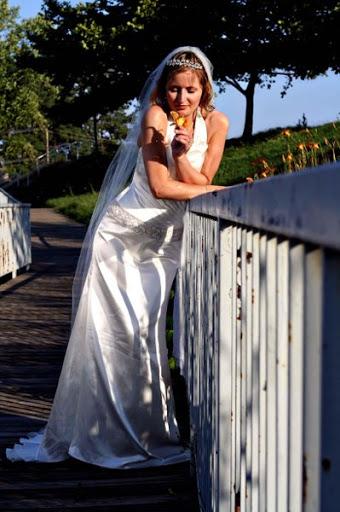 Halter Wedding Gown - V Shape
