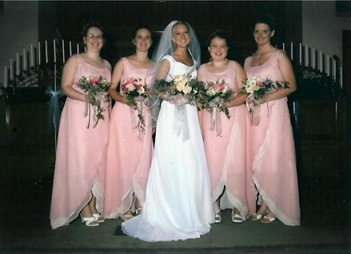 Vintage Pink Bridesmaid Dresses Shown
