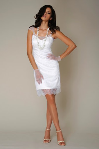 Short Bridal Gown For Evening Wedding Party