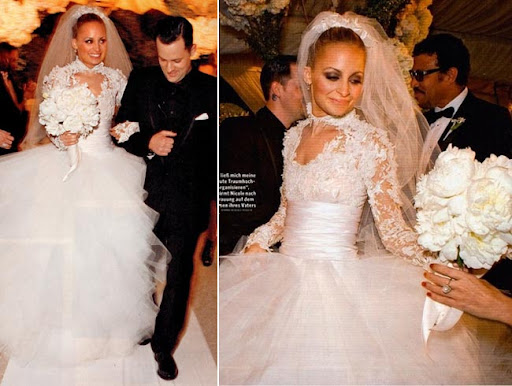 2010 Nicole Richie Joel Madden Celebrity Wedding Dress Diams