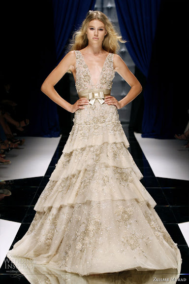 Zuhair Murad Halter Wedding Gown Ideas