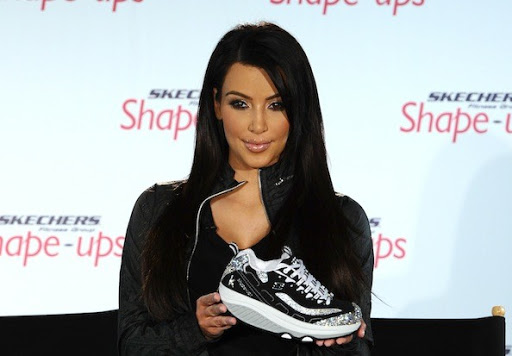 Celebrity Shoes Campaign Ad , Kim on Skechers Superbowl