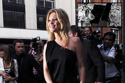 Kate Moss One Shoulder Black Dress