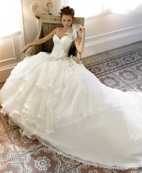 Stunning WHite Bridal Gown Expose