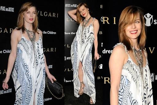 Milla Jovovich - Celebrity Evening Dress Bohemian Style