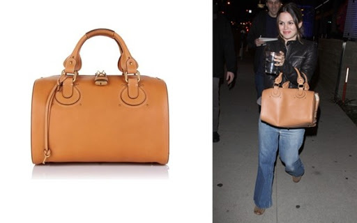 Rachel Bilson Celebrity Handbag, Duffel Bag Chloe