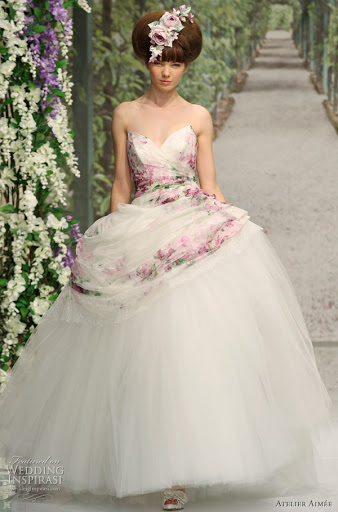 Wedding Gown + Pink Hues