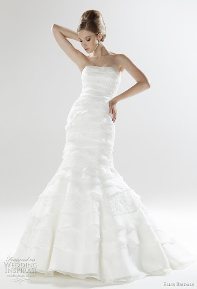 White Layered Wedding Gown