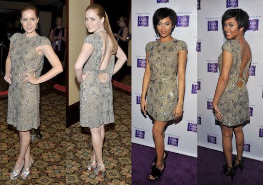 Celebrity's Cocktail Dress, Amy Adam and Bria