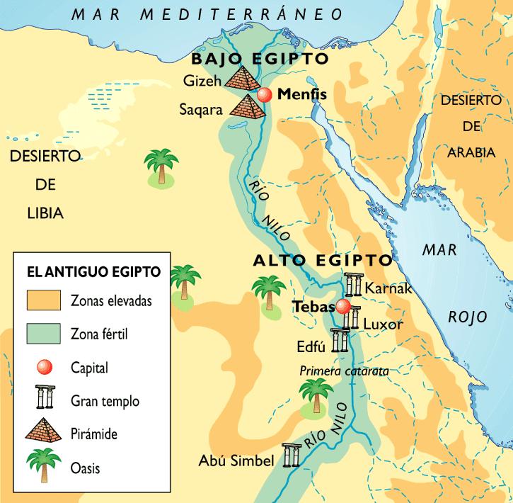 egipto mapa Mapa de Egipto   SOCIALES DE PRIMERO egipto mapa