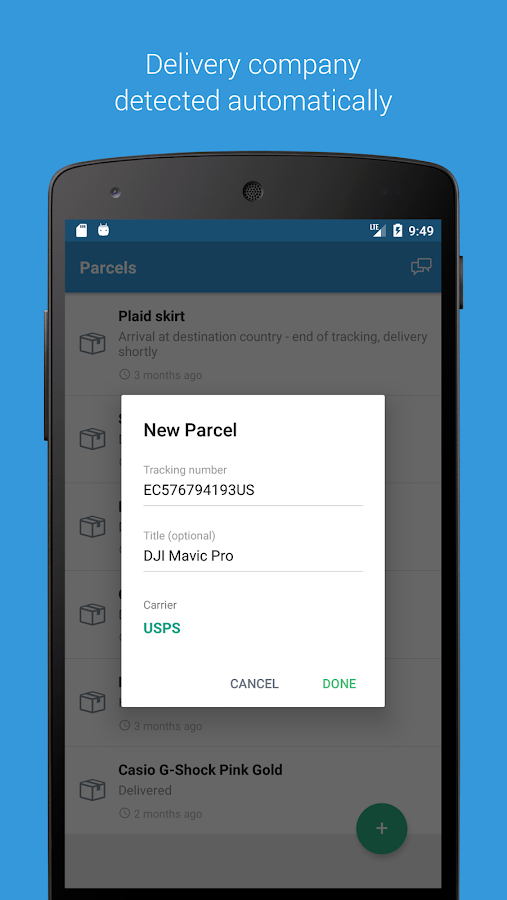 Parcels - Track Packages & Deliveries – Screenshot