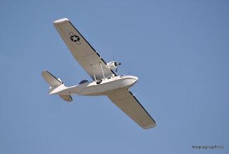 Photo: l'ancètre du Canadair, une coque avec des ailes ou ....l'inverse ! Passage tout en lisse, flotteurs rentrés