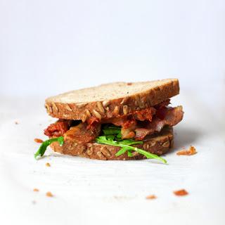 Bacon, Arugula, and Tomato Jam Sandwich