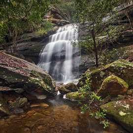 Rocks by Geoffrey Wols - Landscapes Waterscapes ( forest, green, waterfall, bush,  )