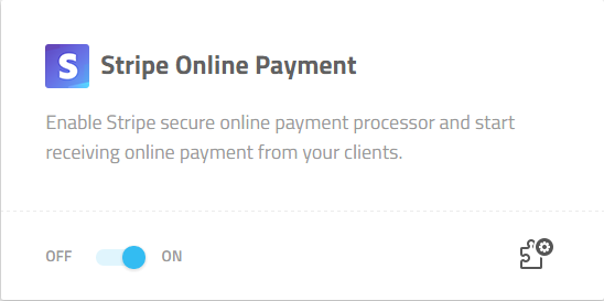 Activate Stripe Online Payment