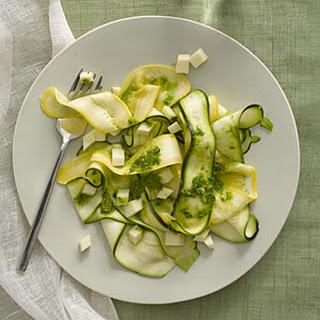 Marinated Zucchini and Yellow Squash Salad