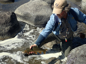 Photo: Brian Flechsig and a Lamar River Cutthroat
