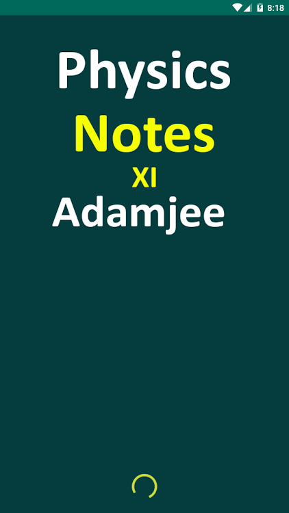 Physics XI Adamjee Notes – (Android Aplikace) — AppAgg