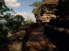 Hyperfocal example: Walkway and cliff face - Rock City, Tennessee (TN)
