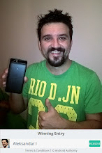 Photo: Sunday giveaway winner Aleksandar I. showing off his new Nexus 6P.