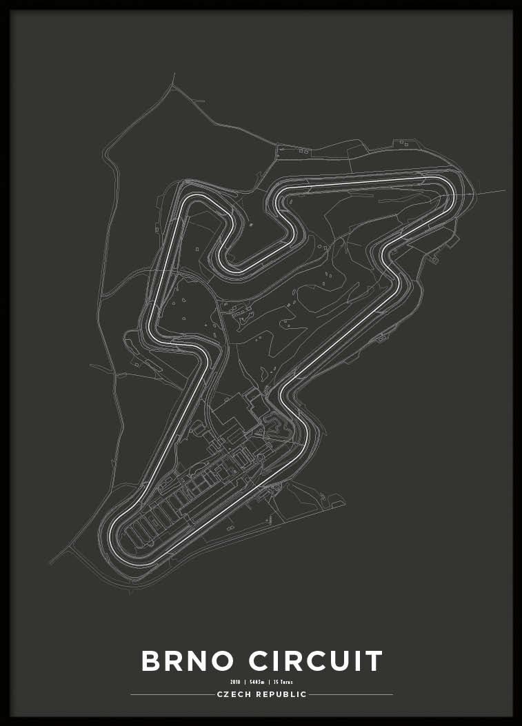 Poster, Brno circuit Svart