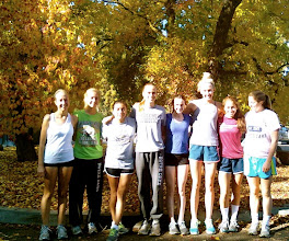 Photo: Notre Dame Girls Varsity CC Team at State Meet, Fresno 2012