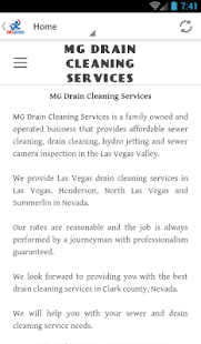 MG Drain Cleaning Services- screenshot thumbnail