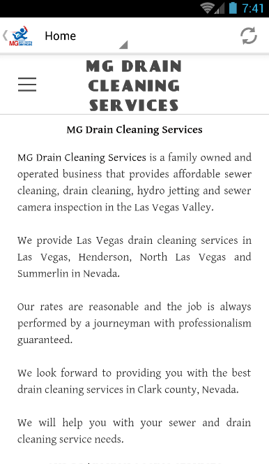 MG Drain Cleaning Services- screenshot