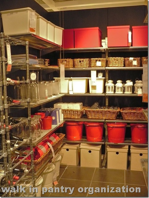 walk in pantry organization