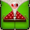 Snooker Zip Screen Lock icon