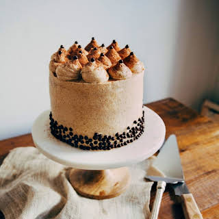 Banana and Chocolate Crunch Cake with Graham Cracker Frosting.