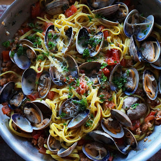 Linguine with Clams and Chorizo Recipe