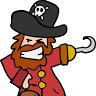 Zahnstocher Pirat