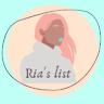 Ria's list