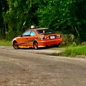 Honda Máquina naranja Civic