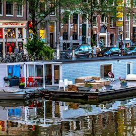 Living in the canal, Amsterdam by Hariharan Venkatakrishnan - City,  Street & Park  Vistas
