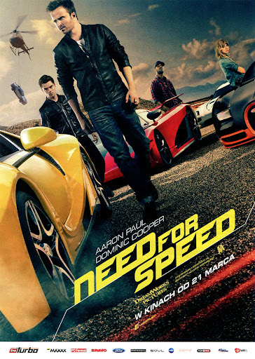 Przód ulotki filmu 'Need For Speed'