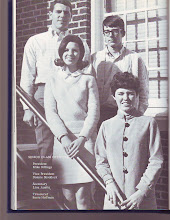 Photo: Senior Class Officers-1969 Pres-Mike Billings/VP-Donnie Shaddock Sect-Lisa Austin/Treas-Susie Hoffman