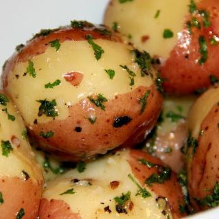 Butter Steamed New Potatoes.