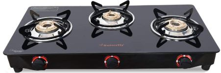 Butterfly Smart Glass Best 3 Burner Gas Stoves In India