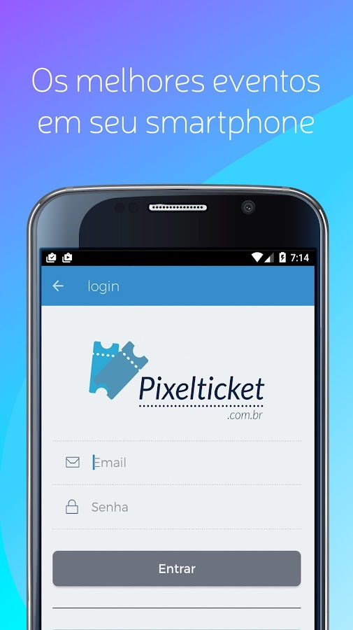 PixelTicket: captura de tela