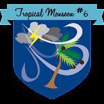 Button Tropical Monsoon #6