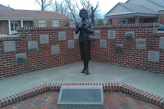 """Photo: Beautiful statue of """"The First Lady of Metropolis"""" Noel Neill."""
